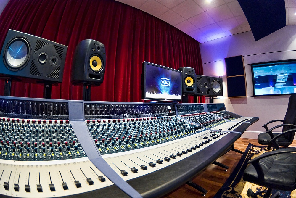 Pictured is the Neve Genesys console in Studio One control room at SAE Institute, Oxford.