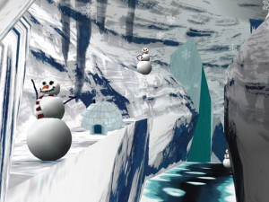 THERAPIE Abb. 2 Screenshot aus Snow World (copyright Hunter HoffmanScientific American, Inc.) (1)