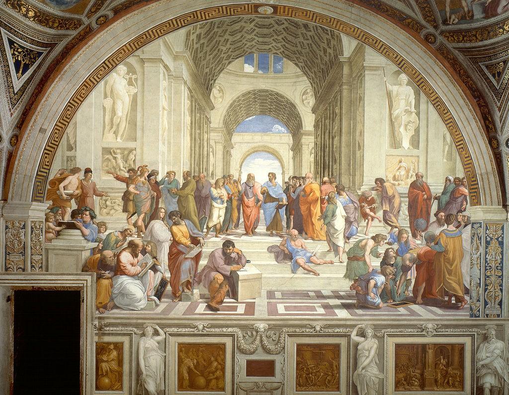 """""""RAFFAELLO - La Scuola di Atene (1509)""""."""