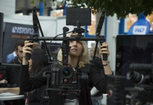 Hands on: Students could touch and try the latest production gear.