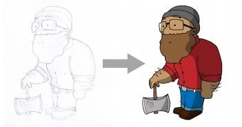 Skizze in Illustrator vektorisieren