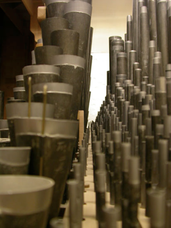 Abbildung 13 - Ansicht Feld mit Orgelpfeifen von der Seite betrachtet