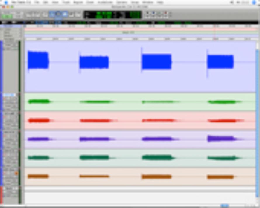 Abbildung 15 - Screenshot mit unbearbeiteter Audiospur