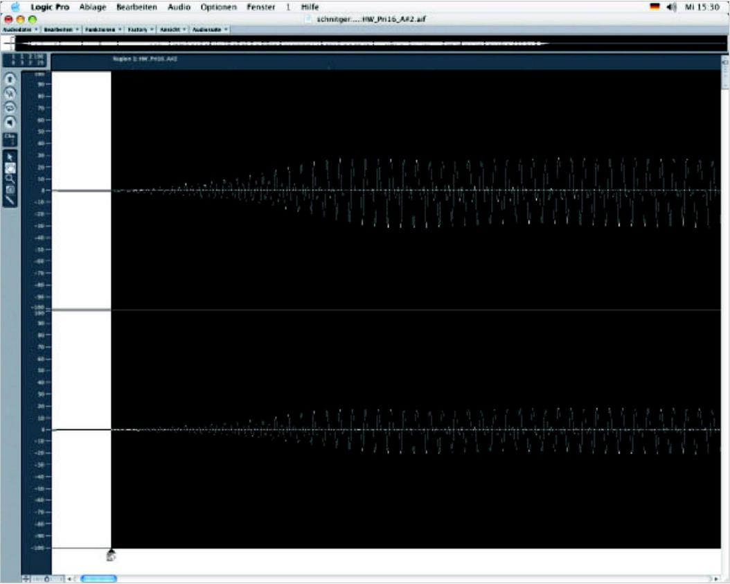 Abbildung 24 - Setzen individueller Startpunkte der Samples im EXS24 von Logic