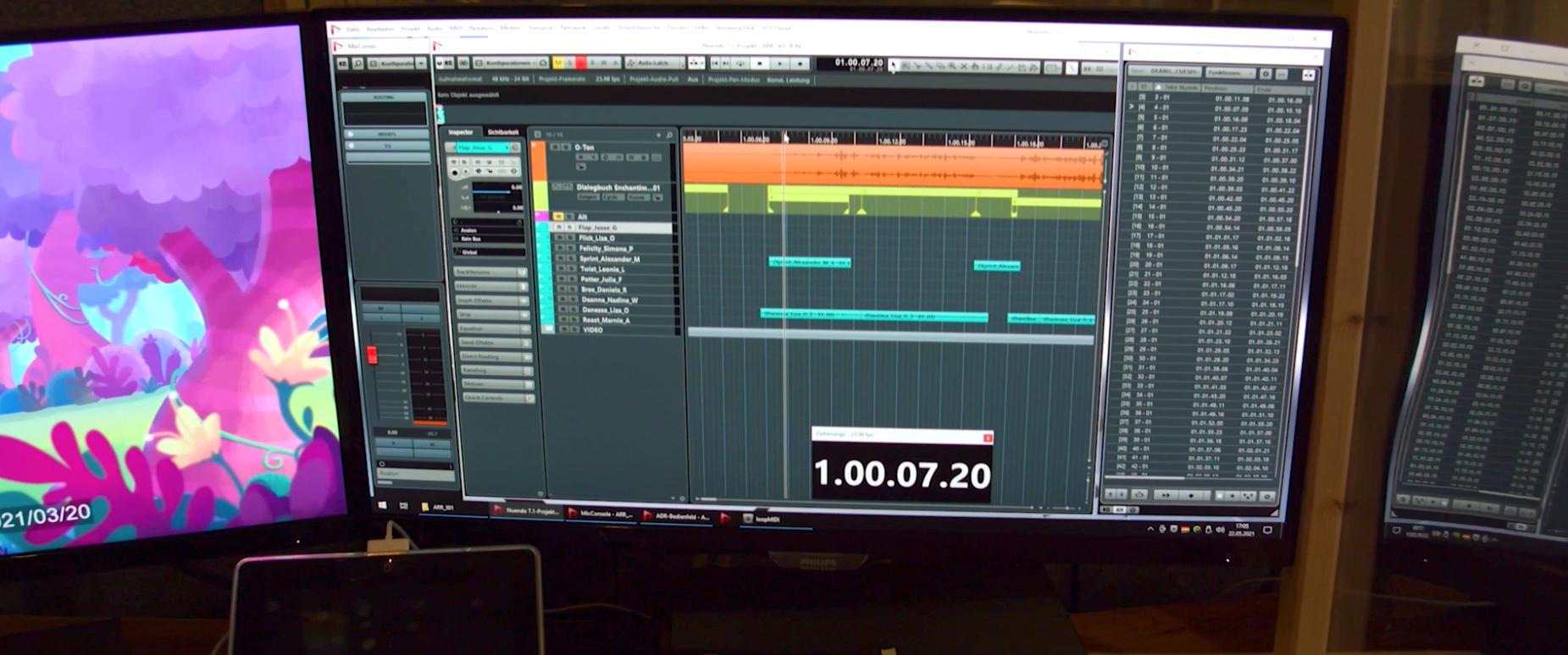 Edit-Station im Studio 7 des CSC Tonstudios